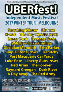 UBERfest Winter MELBOURNE bands